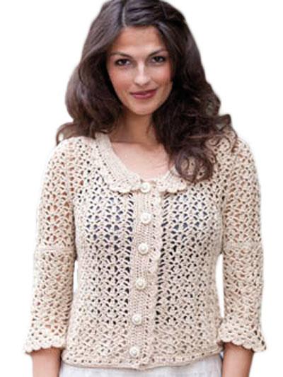 Crochet Cardigan Vest Patterns Sandy Crochet Lace Jacket