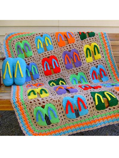 Crochet a Flip Flop Afghan Pattern