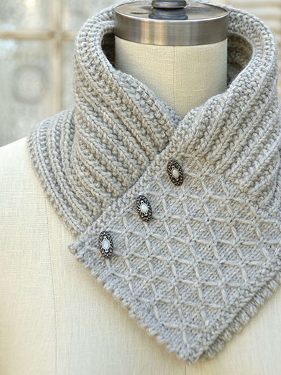Quilted Lattice Ascot Knit Pattern