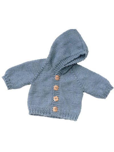 Top Down Baby Jacket Knit Pattern