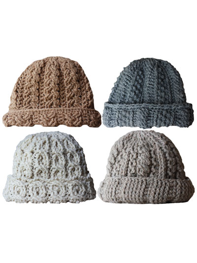 Crochet Gift Downloads Canyon River Cable Hats Crochet Pattern
