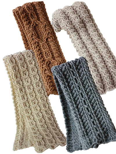 Canyon River Cable Scarves A839920