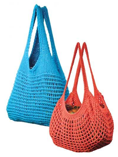 Annies Easy Tunisian Market Bags Crochet Pattern