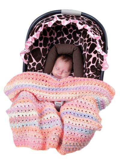 Crochet Take A Long Blankets for Car Seats
