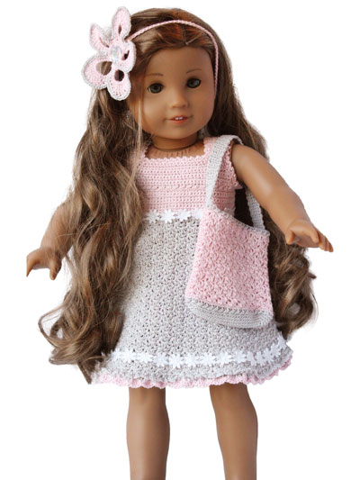 Sweet outfit & accessories Paid and Free Crochet Patterns for 18-inch Dolls Like the American Girl Doll