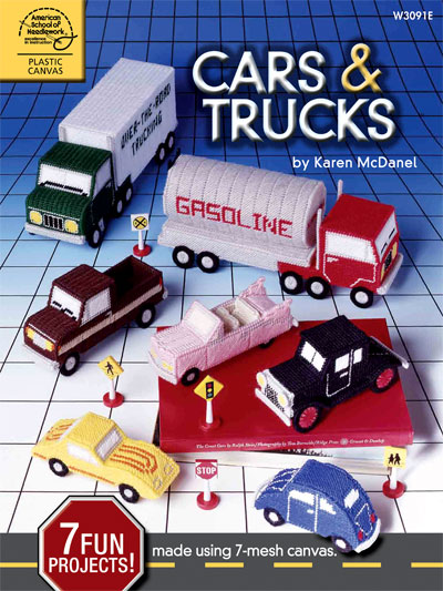 Make some plastic canvas cars and trucks patterns
