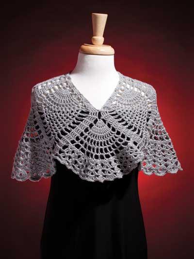 Crochet Shawl Wrap Downloads Pineapple Wrap Crochet Pattern