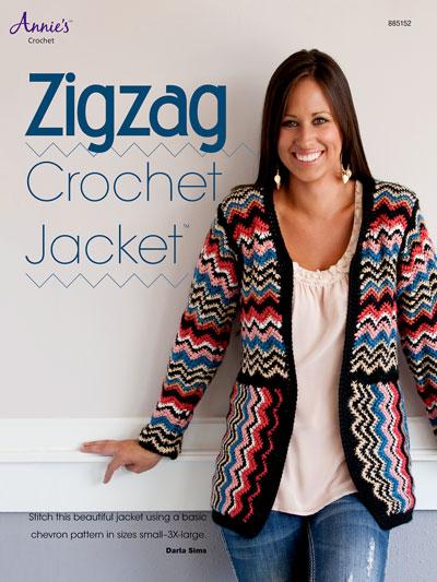 Crochet Cardigan Vest Patterns Zigzag Crochet Jacket
