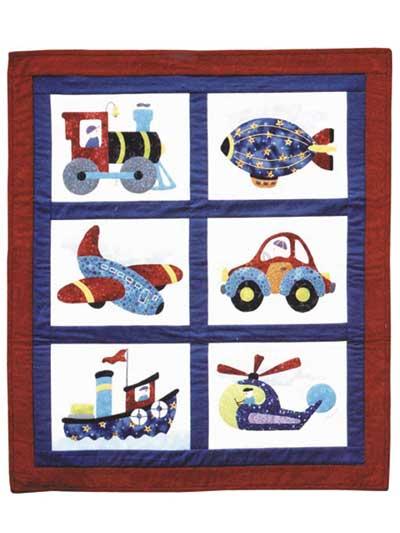Beginner Quilt Patterns Boys Toys Applique Baby Quilt Pattern