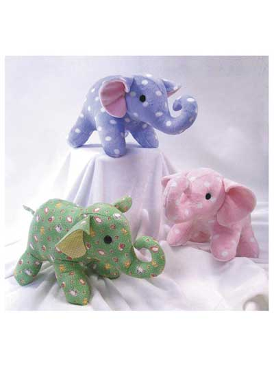 Stuffed Toy Sewing Pattern Ellie And Elwood Elephants