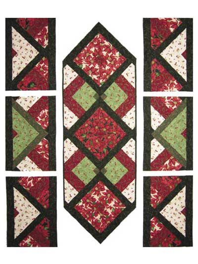 Pieced quilted table topper downloads lucky seven table runner lucky seven table runner sewing pattern watchthetrailerfo