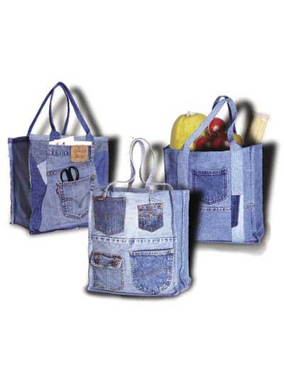 Double Green Shopping Bag Pattern