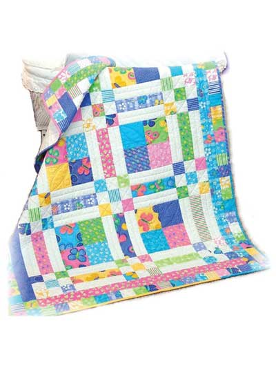 Quick Easy Baby Kids Quilts Butterfly Patches Quilt Pattern