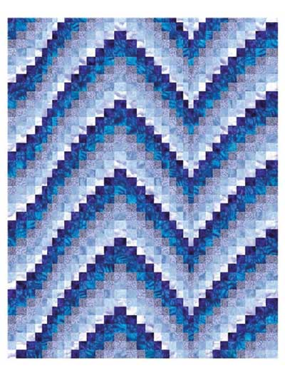 Blues Bargello Quilt Pattern