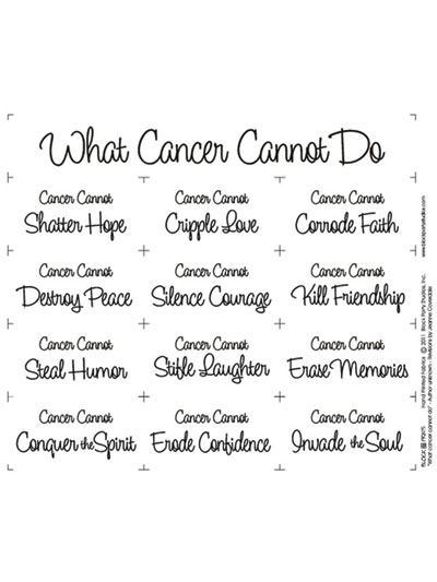 What Cancer Cannot Do Fabric Panels White Or Natural