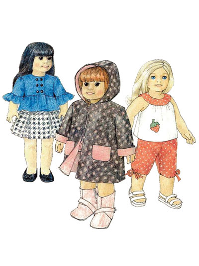 18-inch Doll Clothes Patterns - Sewing Patterns for 18-inch Dolls ...
