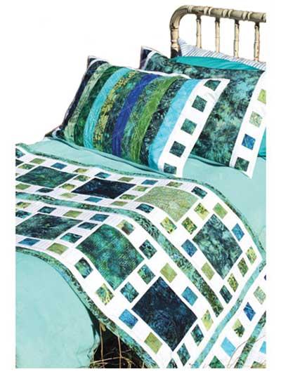 Mosaique de Mer Bed Runner \u0026 Pillow Shams Pattern