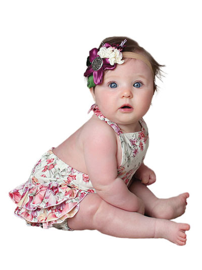 Baby Dresses & Outfits Sewing Pattern - Ruffled Baby Bubble Romper