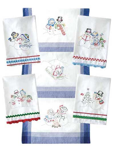 Needlework Patterns Snow Fun Iron On Embroidery Pattern