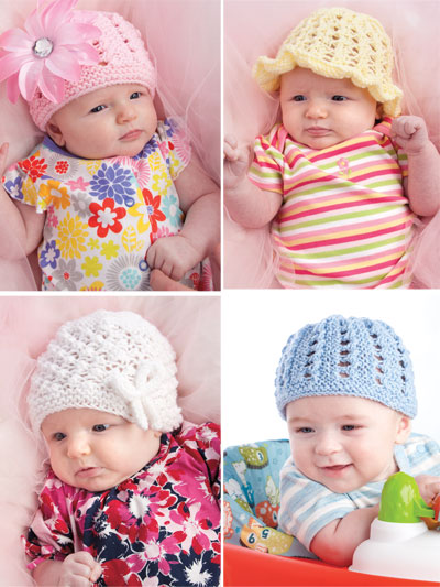 Beginner Knitting Patterns - Knit Beginner Baby Hats