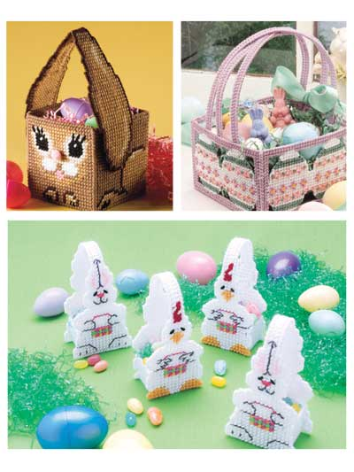 Easter Baskets in Plastic Canvas