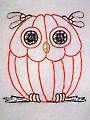 Hoot Owls Redwork Designs