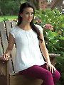 Women's Raglan Henley Knit Pattern