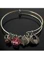 Charmed Bangle Kit Pink Crystals