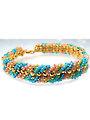 Bohemian Summer Bracelet Kit - Blue/Green/Blush/Gold
