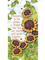"Friendship Sunflower Panel - 6"" x 12"""