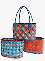 Diagonally Woven Baskets Sewing Pattern