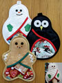 Christmas Trio of Pot Holders Sewing Pattern
