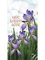 "Iris Live, Laugh, Love Panel - 6"" x 12"""