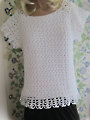 Womens Sideways Sassy Top Crochet Pattern