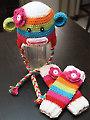 Sock Monkey Hat & Leg Warmers