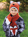 Fox Hat & Scarf Crochet Pattern