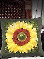 Sunflower Pillow Cross Stitch Pattern