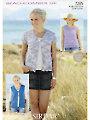 Sirdar Beachcomber DK 7285: Summer Essentials Knit Patterns