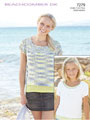 Sirdar Beachcomber DK 7279: Round Neck Top Knit Pattern