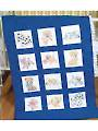 "Puppies 9"" Prestamped Nursery Quilt Blocks"