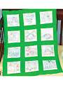 "Dinosaurs 9"" Prestamped Nursery Quilt Blocks"