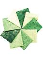 Artisan Spirit Shimmer Emerald Fat Quarters - 9/pkg.