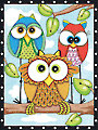 Owl Trio Pencil By Number Kit