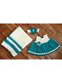 Diamond Infant Dress Set Crochet Pattern