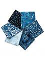 Denim Fresh Batiks Botanical Fat Quarters - 6/pkg.