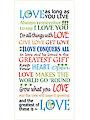 "Love Words Art Panel - 6"" x 12"""
