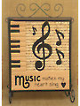 Music Makes My Heart Sing Wall Hanging Pattern