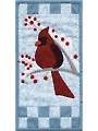 Winter Cardinal Mini Wall Hanging Pattern