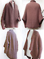 Brown Cuffed Shawl Cardigan