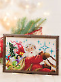 Santa's Sleigh Ride Cross Stitch Pattern